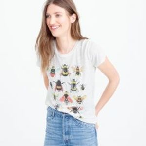 JCrew Save the Bees Buglife Linen Tshirt